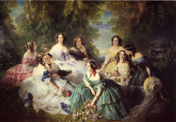 1280px-Winterhalter_Franz_Xavier_The_Empress_Eugenie_Surrounded_by_her_Ladies_in_Waiting