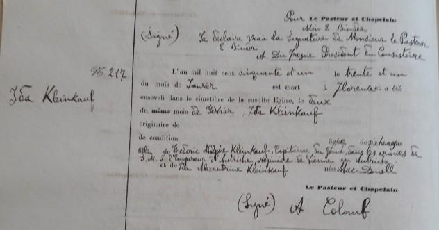 Acta de Defunción de Ida Kleinkauf Cementerio Ingles de Florencia (2)